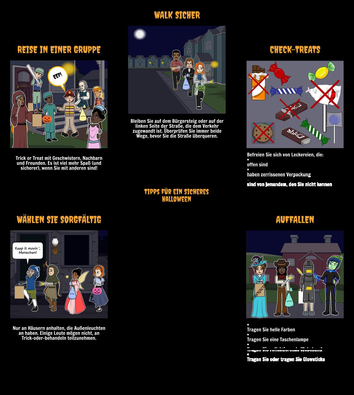 Halloween Aktivitäten - Sicherheit