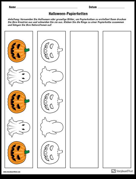 Halloween-Papierketten