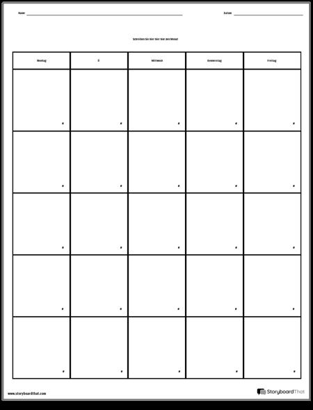 Kalender - Wochentag