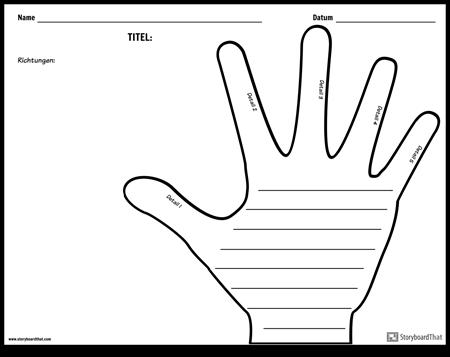 Kreatives Schreiben - Hand