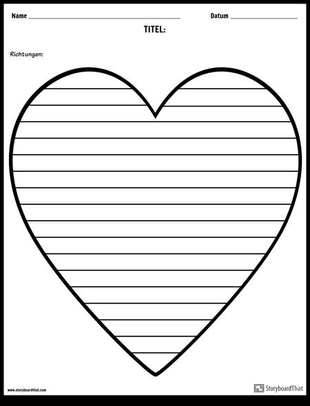 Kreatives Schreiben - Herz
