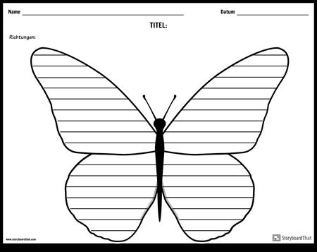 Kreatives Schreiben - Schmetterling