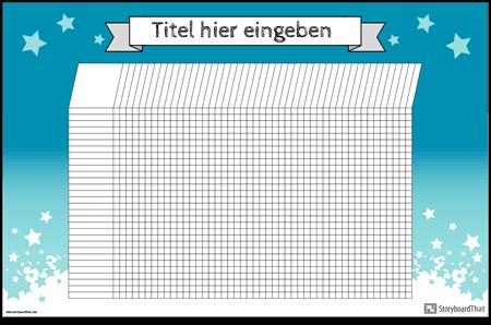 Kursteilnehmer-Diagramm-Plakat Horizontal