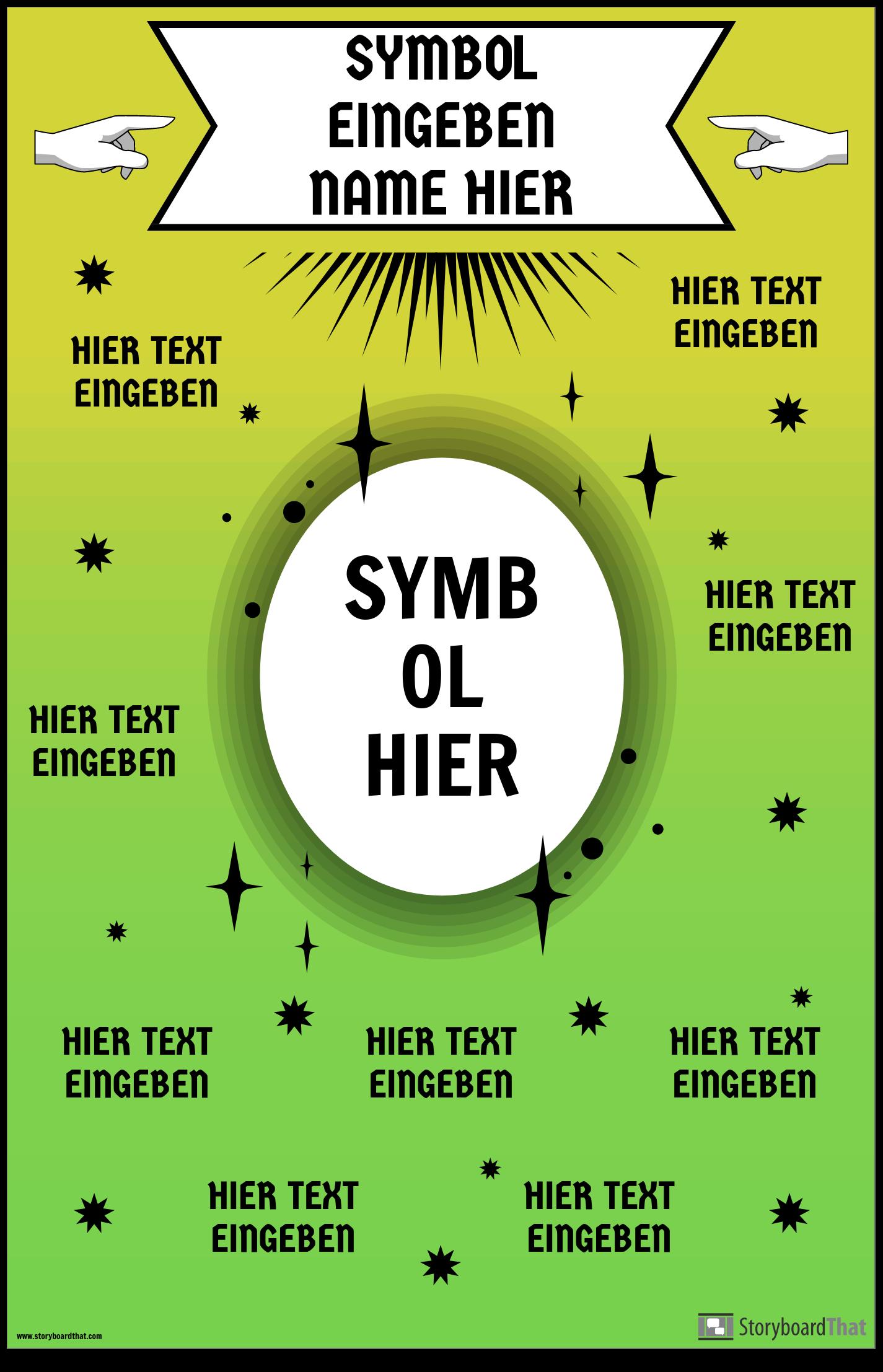 Mathe-Symbol-Plakat
