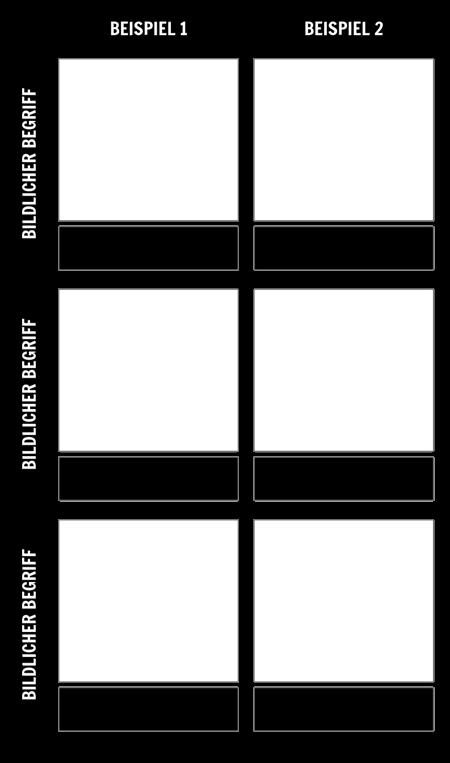 Mehrere Beispiele für Figurative Sprachvorlagen