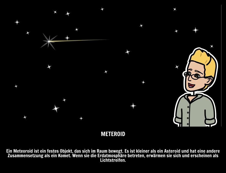 Contemporary Komet Asteroid Meteor Arbeitsblatt Sketch ...