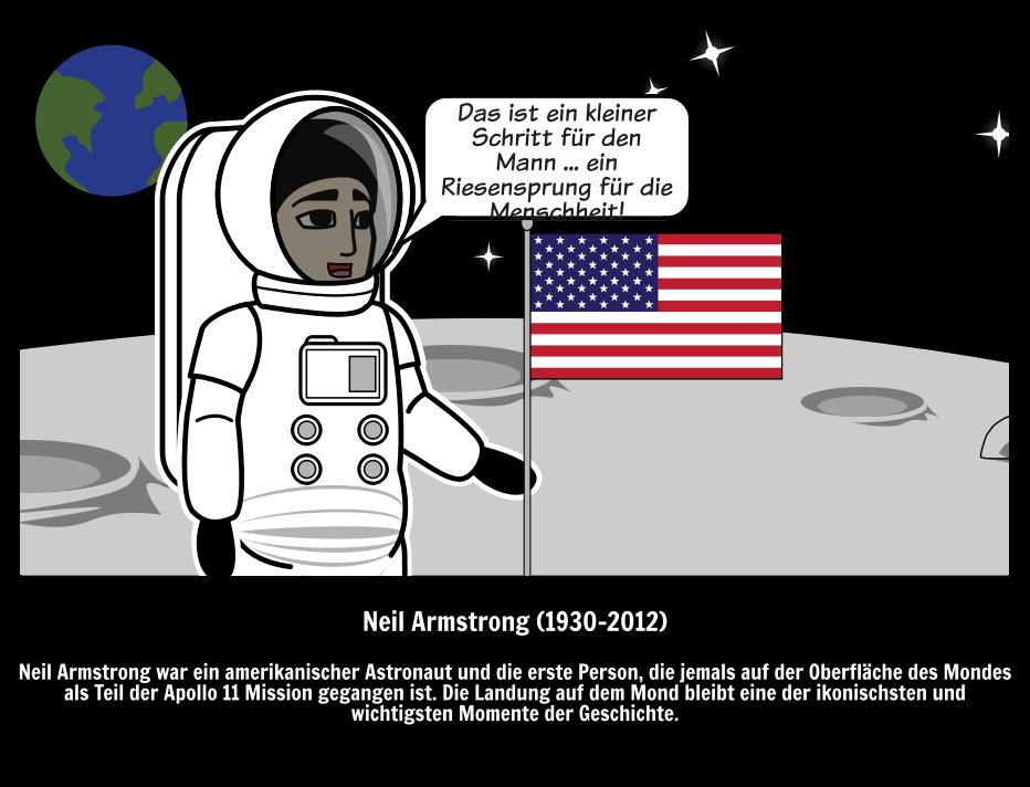Neil Armstrong Zitat & Mondlandung   Große Leute
