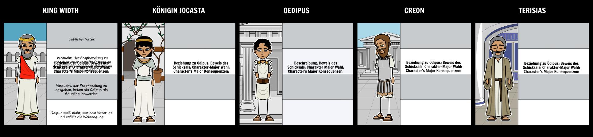 Oedipus - Buchstaben <br>