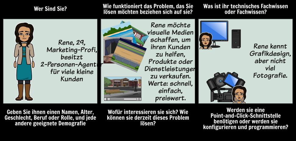 Persona Storyboard Beispiel