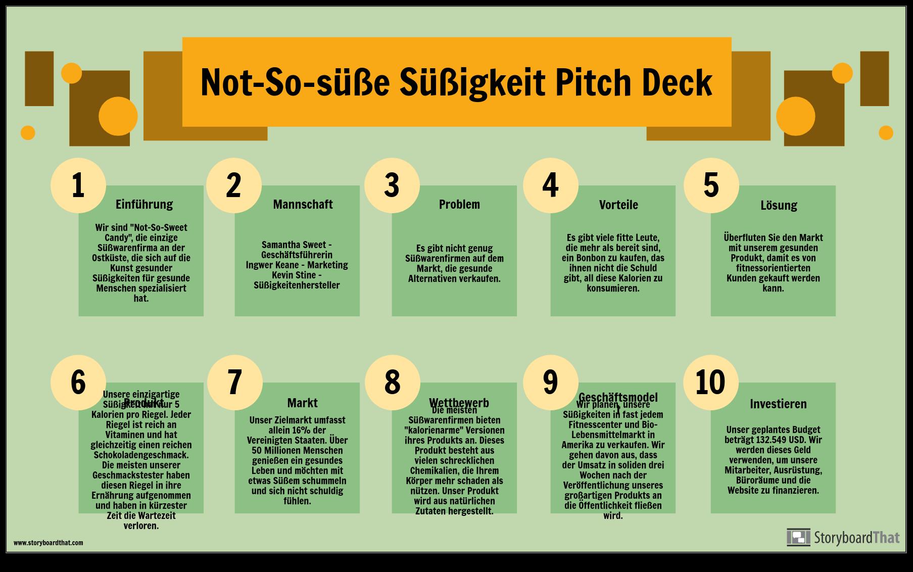 Pitch Deck Info Beispiel