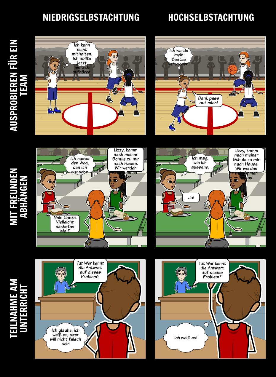 Selbstachtung und Konzept | Positive Bestätigung | Gesundheitserziehung
