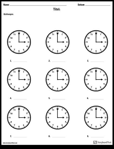 Schreibe die Zeit