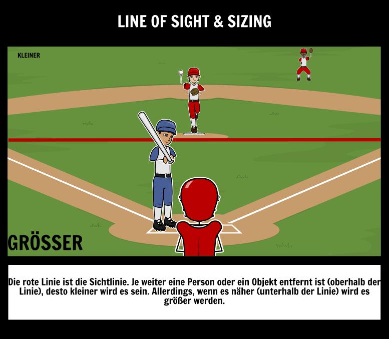 Fügen Sie Perspektive zu Storyboards Hinzu Vordergrund Hintergrund