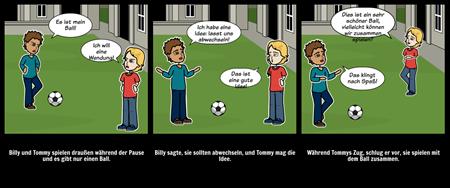 Soziale Geschichten - Abwechselnd