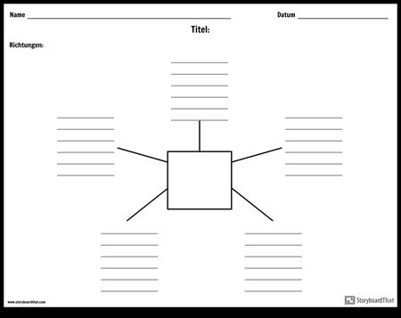 Spinnenkarte mit Linien - 5