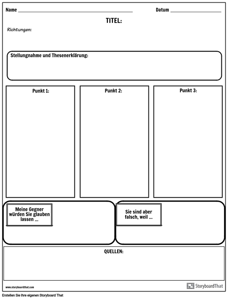 Stellungnahme Thesis Outline