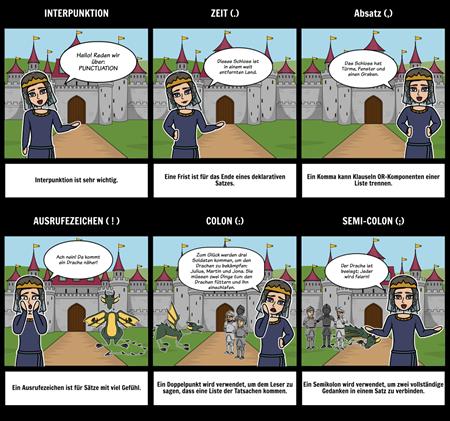 Interpunktionszeichen mit Comics lehren | Interpunktionsaktivitäten