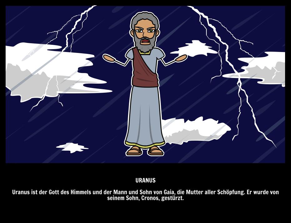 Uranus Gott des Himmels Ouranos der Urgötter