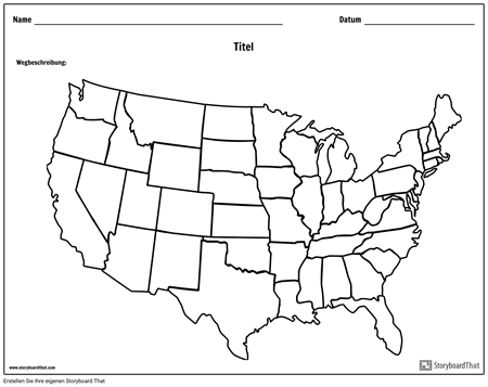 Vereinigte Staaten Karte