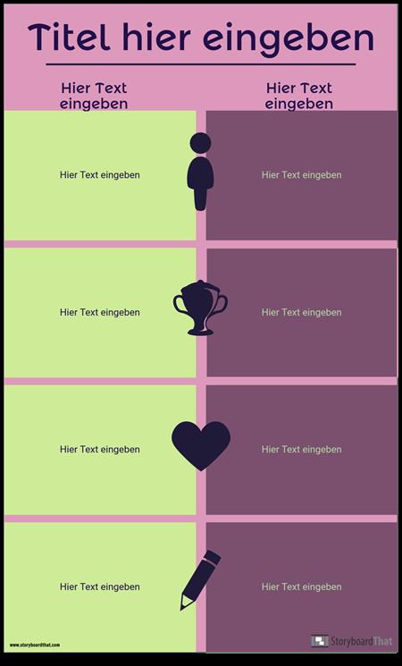 Vergleich Infographik Vorlage