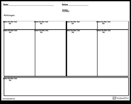 Vierspaltige Notizen mit Übersichtsfläche