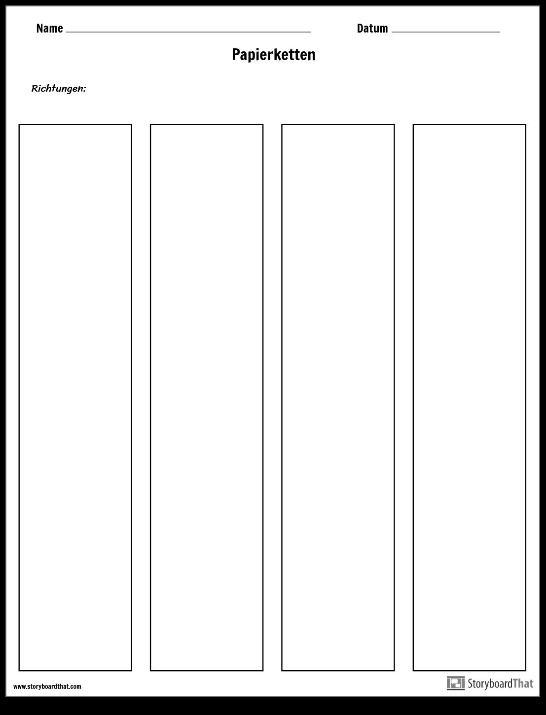 Vorlage für Papierketten