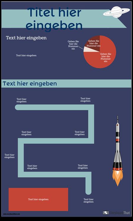 Weltraum-Infografik