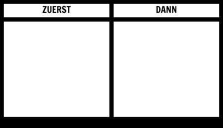 Zuerst Dann Board Printable Template