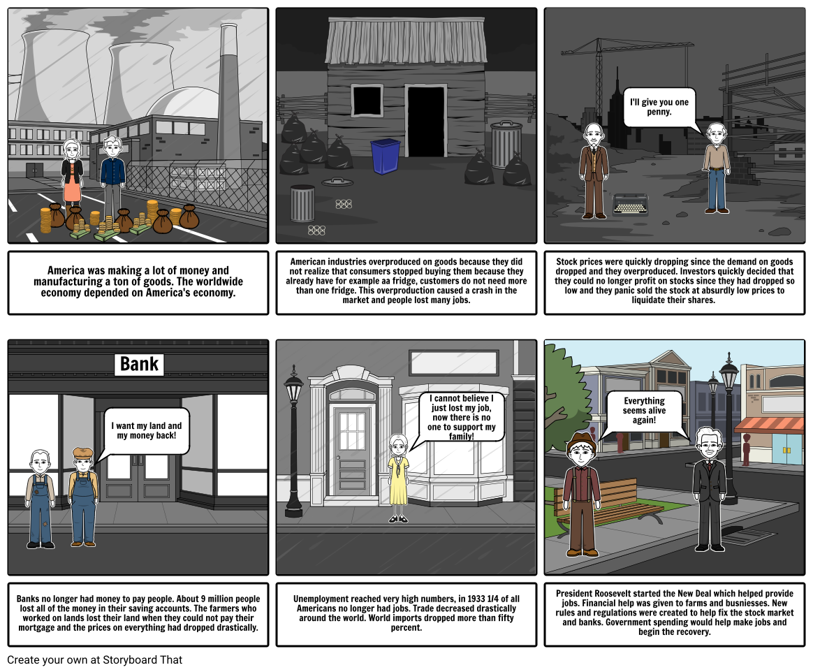 Great Depression Storyboard