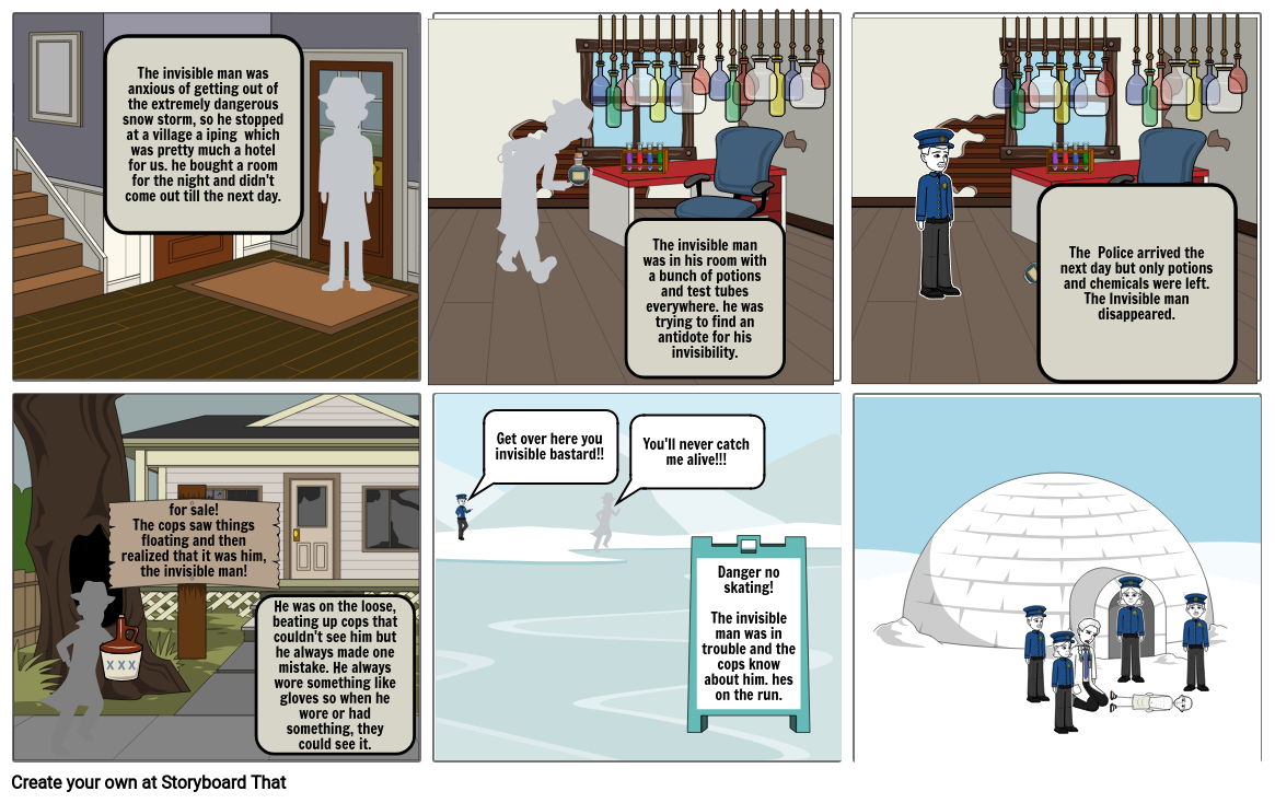 Independent reading project storyboard