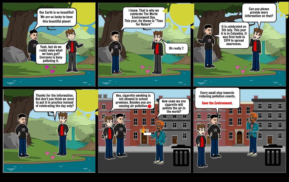 Environmental day comic strip