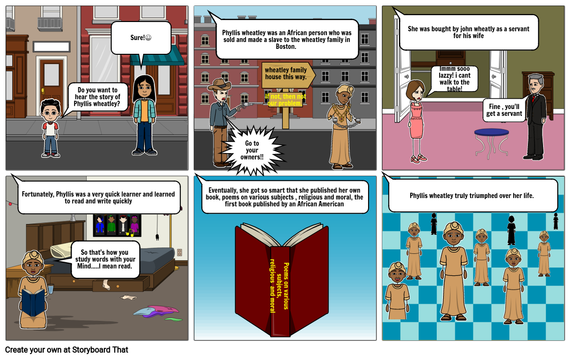 History assignment storyboard