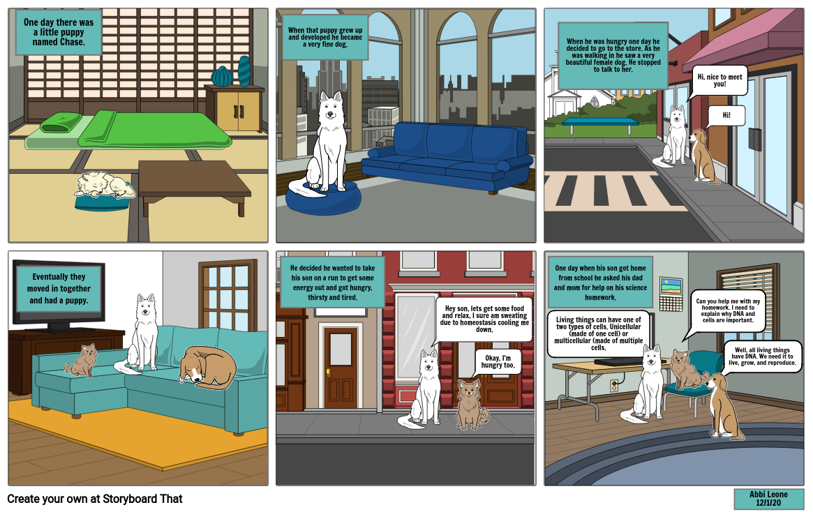 1st part of Science Comic Strip Project