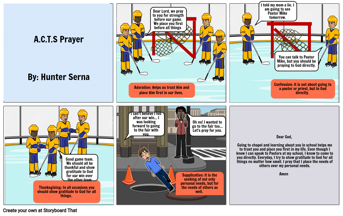 A.C.T.S Prayer - A hockey Story.....
