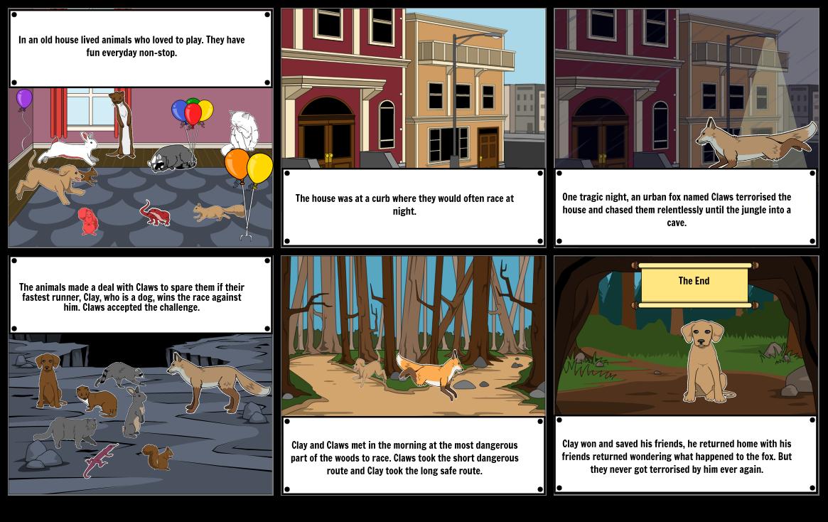 The Big Race Storyboard
