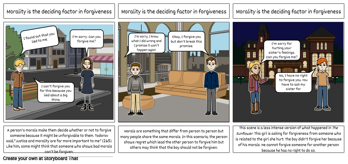 morality is the deciding factor in forgiveness