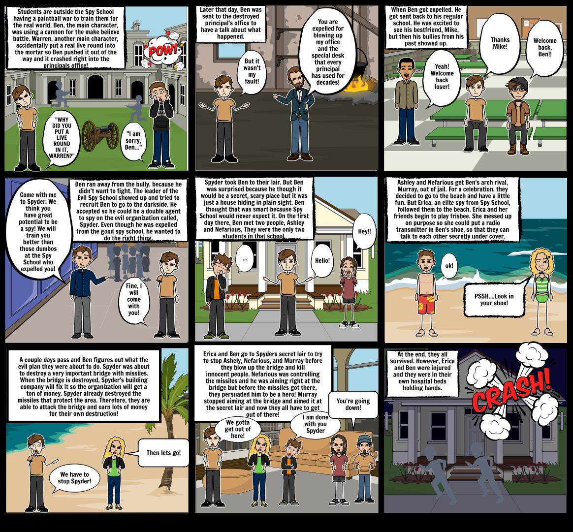 Evil Spy School Comic