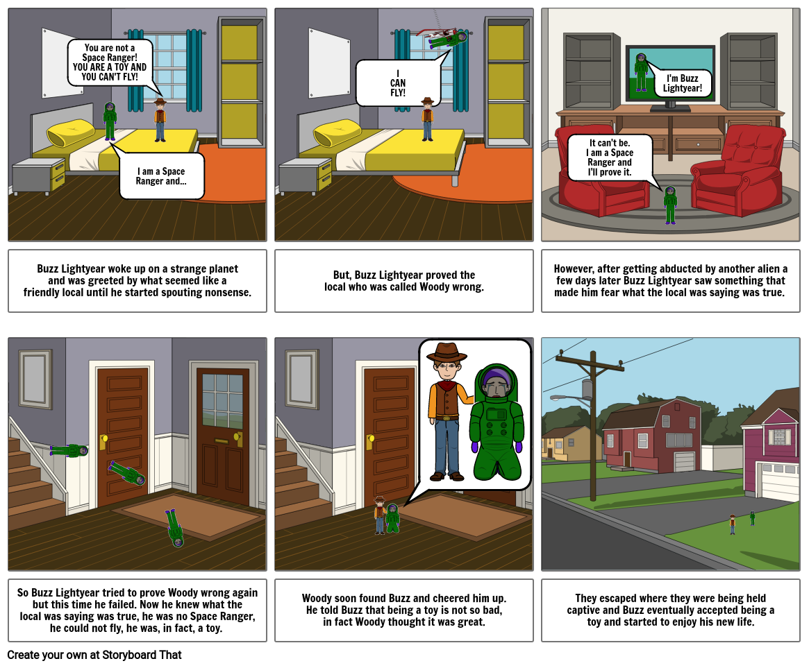 English 4 - Types of Conflict Storyboard - 11th - TOY STORY
