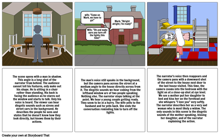 """""""It Had to Be Murder"""" storyboard by Katie Dougherty"""