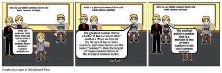 greatest common multiple and least common multiple