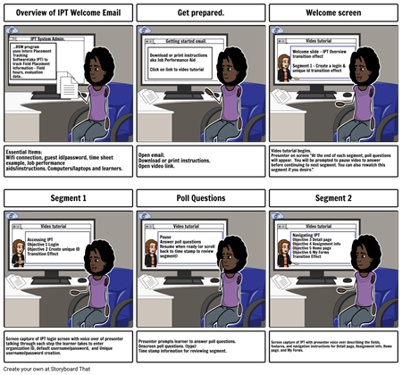 Overview of Intern Placement Tracking Software Storyboard
