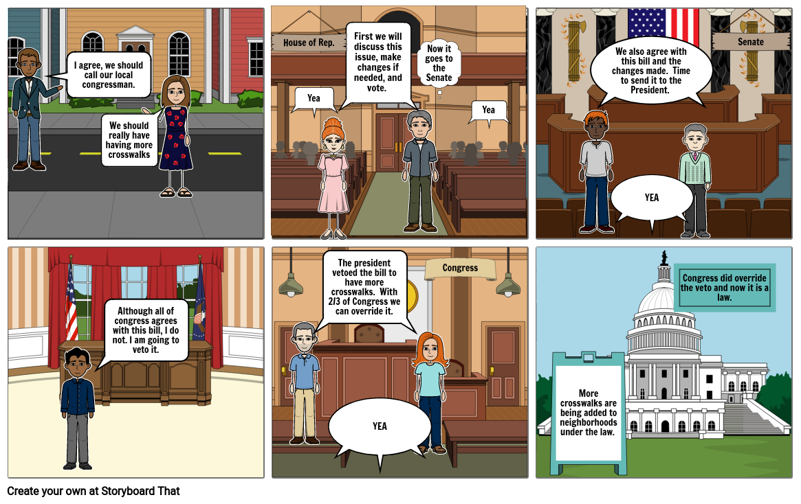 Storyboard: How a bill becomes a law