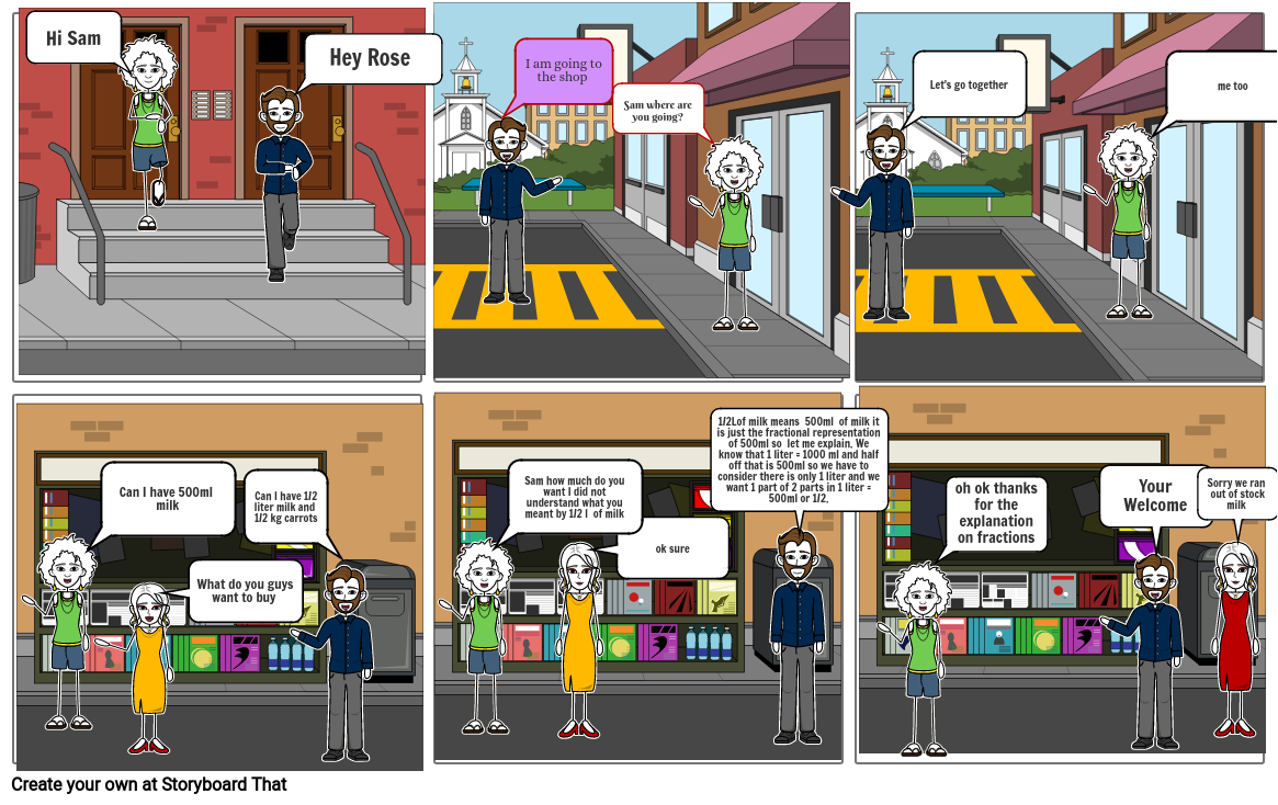 Fractions Storyboard