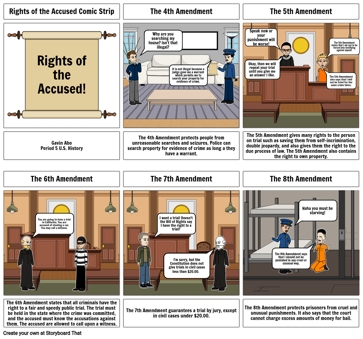 Rights of the Accused Comic Strip
