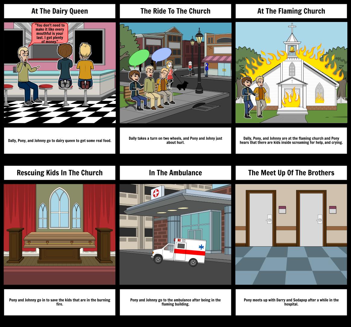 ELA Storyboard:The Outsiders