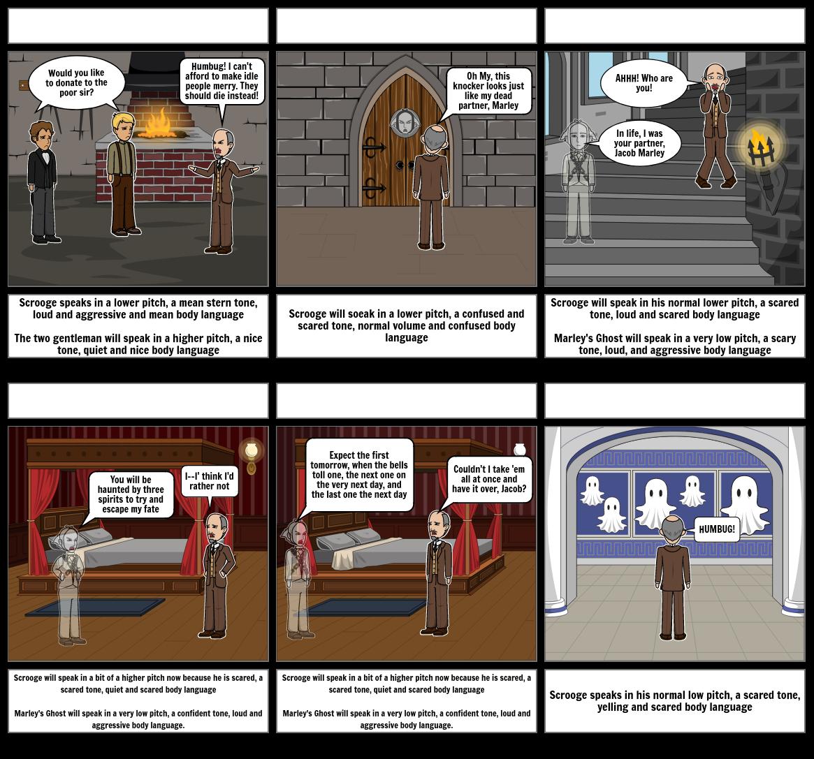 Drama A Christmas Carol Stave 1 Storyboard by e5fdf618