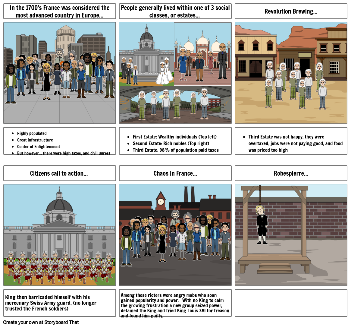 history french revolution storyboard