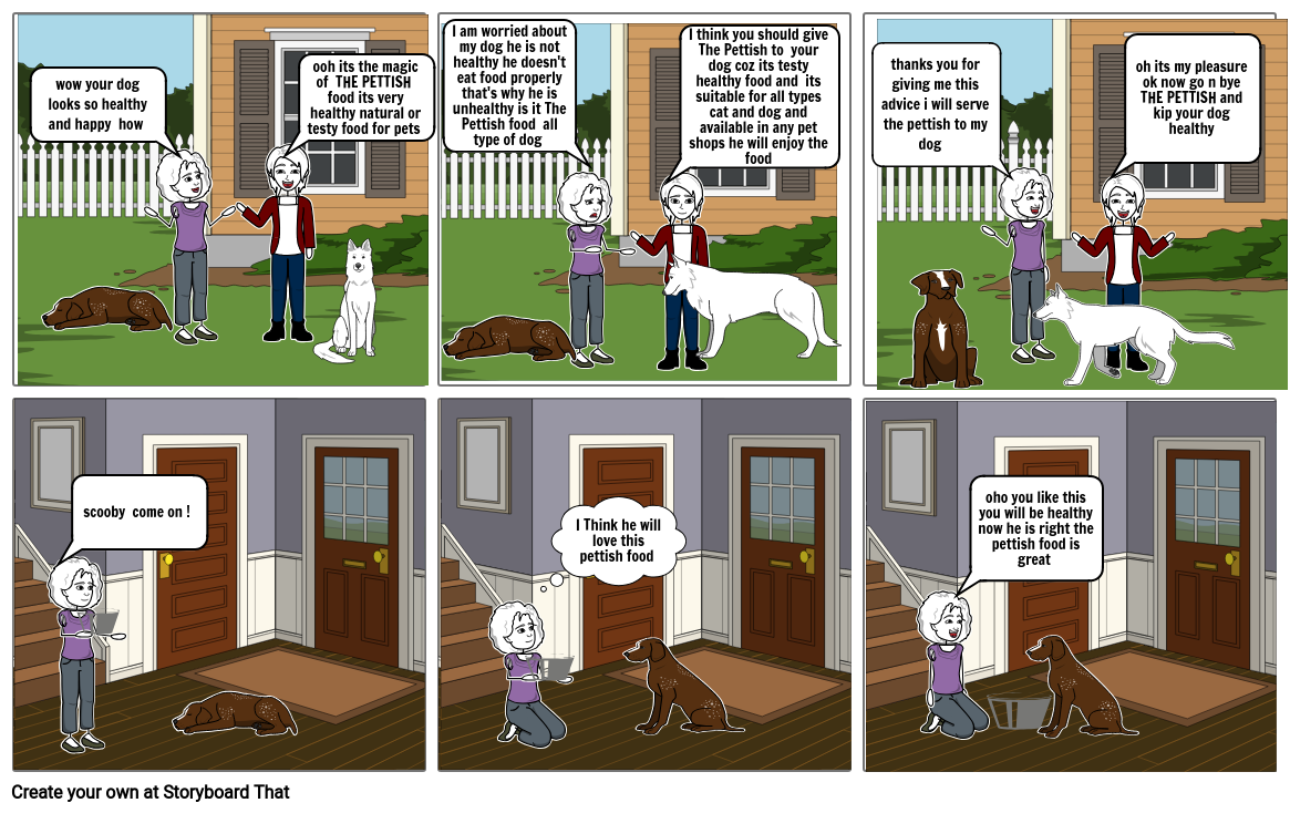 The Pettish Ad Story Bord Storyboard By E9fcf93d