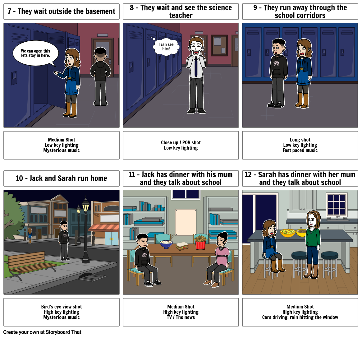 Storyboard 2 - Townville High - James Gower