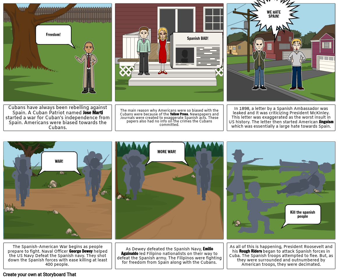 Spanish-American War Storyboard Part 1